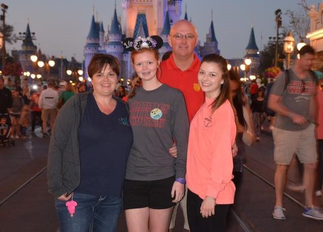 Riley family at Disney