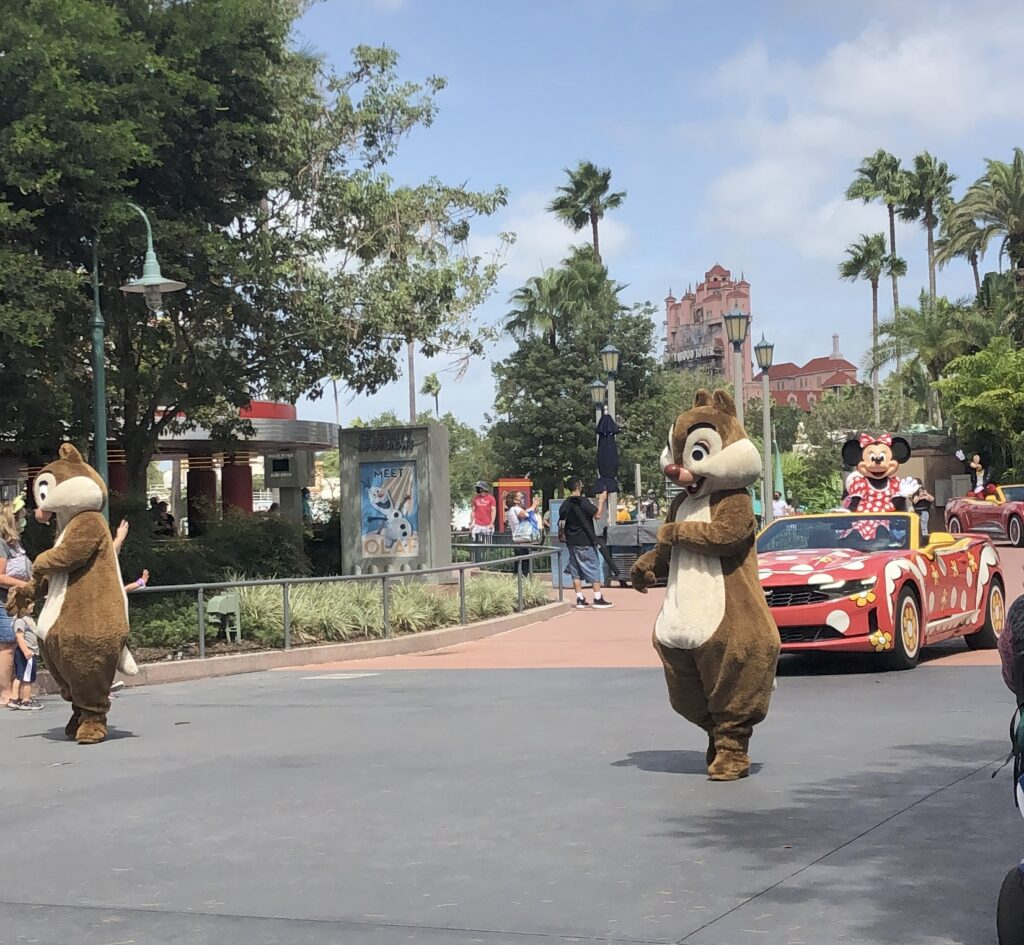 Minnie, Chip, and Dale at Disney's Hollywood Studios